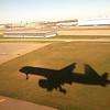 Landing at Minneapolis (MSP) for flight to Paris France (CDG). (iPhone 4)