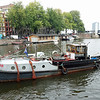 Old tugboat, now a yacht in Amsterdam.