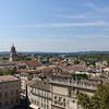 Looking southeast from the top of the Palais des Papes. Rhone River is in center background.