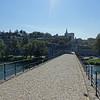 On the Pont Saint-Bénézet looking back at Avignon Cathedral (Notre Dame des Doms d'Avignon)