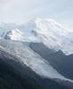 Mont Blanc above Glacier des Bossons.