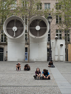 Outside Pompidou Center.