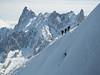 Climbers on Aiguille du Midi.