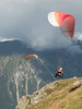 Paragliding above Chamonix.