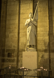 Joan of Arc, burned at the stake for cross-dressing.