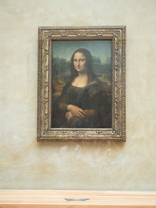 Mona Lisa, famous because it was stolen.