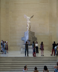 Winged Victory and negative space.