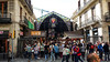 Another change of cities. A five hour train ride, beautiful train I might add, to Barcalona and one of our first thigs we do is visit Mercat La Boqueria.  It is one of two main markets in Barcelona and is just off of La Rambla, the famous shopping street in the old part of town.