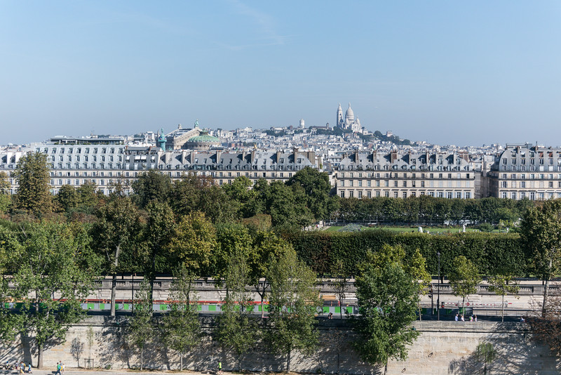 From the roof of the Musée d'Orsay looking out at the highest point in Paris.