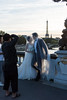 There were a number of wedding on the Pont Alexandre III at sunset, mostly looked like Chinese.