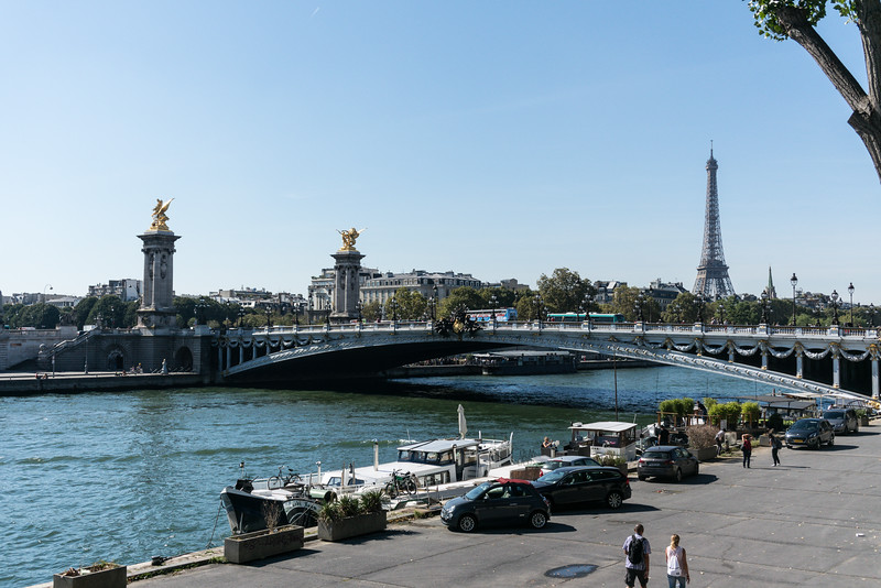 From our boat stop in the Champs-Élysées area.