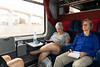 Whew!  Time to relax on the train before hitting another crowded Moroccan medina in Marrakesh.