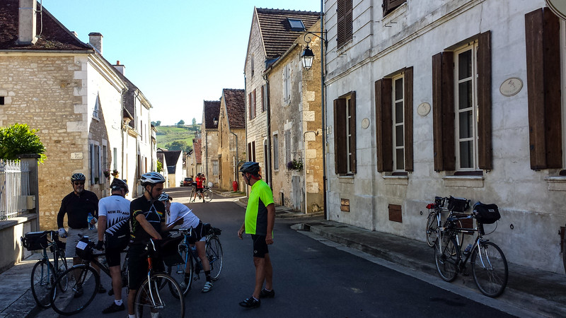 Arriving in Chablis.