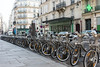 Rental bikes are everywhere in France and Spain and they are well used.