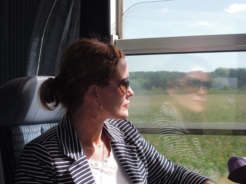 Train ride from Paris to Sanmur in the Loire