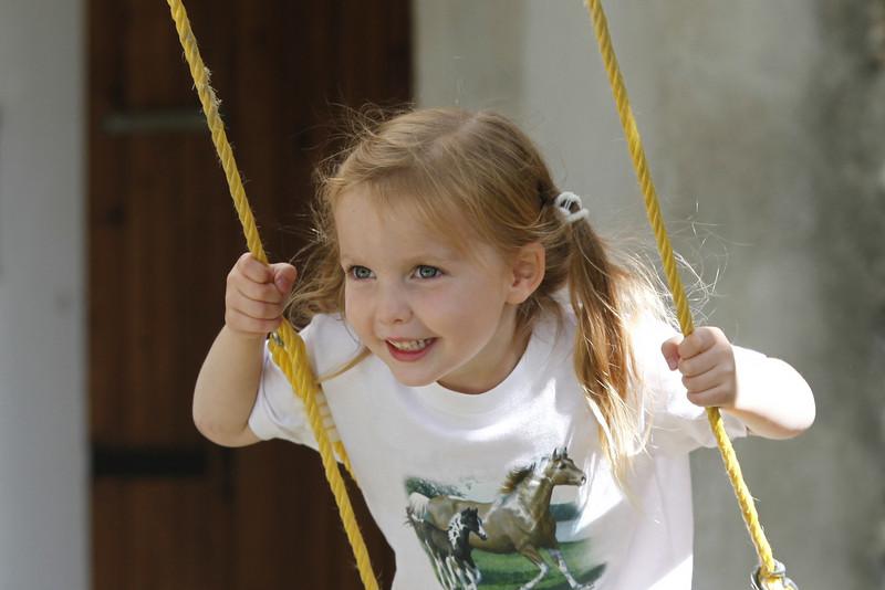 Sienna swings.