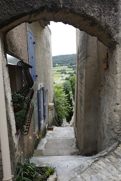 One of the many old alleyways, Vinsobres, France.