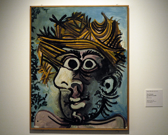 And finally....Head of a man in straw hat, Unterlinden Museum, Colmar, Alsace, 17 July 2005.   Picasso, 1971.