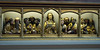 Isenheim altarpiece, Unterlinden Museum, Colmar, Alsace, 17 July 2005 8.  A closer look at the carved and painted predella.  Hagenaur's sculptures were exectued about 1490, so anticipate Grunewald's paintings by about 20 years.