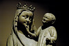 Virgin and Child, Unterlinden Museum, Colmar, Alsace, 17 July 2005.  This tender sculpture was made in the Upper Rhine area in about 1290.  It is normally kept in the Florival museum at Guebwiller, Alsace, but was at Colmar for a special exhibition.