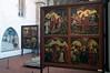 Painted panels, Unterlinden Museum, Colmar, Alsace, 17 July 2005.