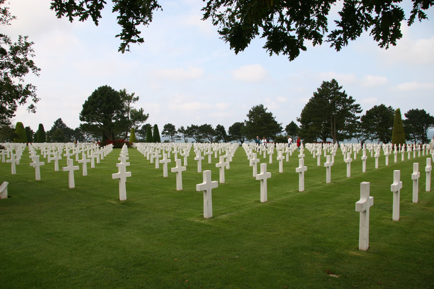 American Military Cemetary over-looking Omaha Beach.