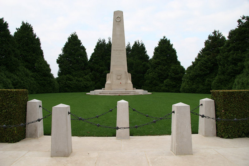 A closer view of the New Zealand Divisional Memorial at Longueval.