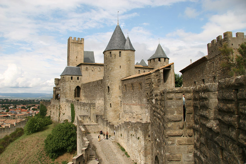 Carcassone (the old city walls).