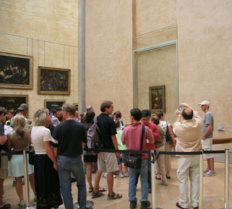 Mona Lisa and some of her fans...