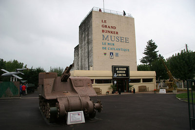 La Grand Bunker.  German Command Bunker at Ouistreham (Sword Beach) Normandy.