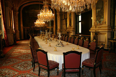 Napoleans Dining Room at Musee du Lourve.