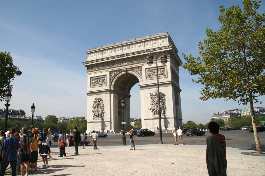 Arc de Triomphe (viewed from Champs-Elysees)