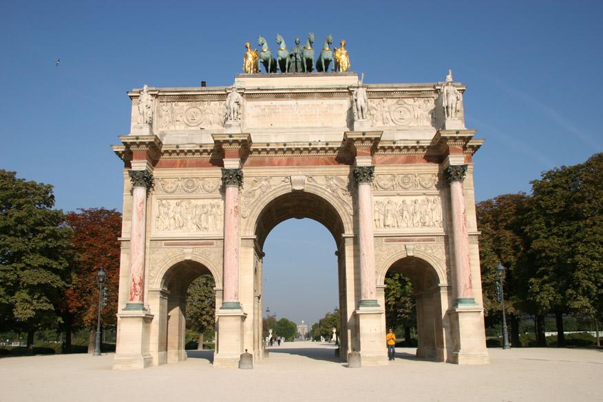 Arc de Triomphe du Carrousel (near Musee du Lourve)