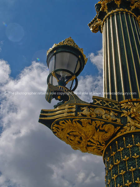 "Ornate Street lamp close-up. Typically French traditional. Paris, France. SEE ALSO:   <a href=""http://www.blurb.com/b/893039-paris-international-city"">http://www.blurb.com/b/893039-paris-international-city</a>"