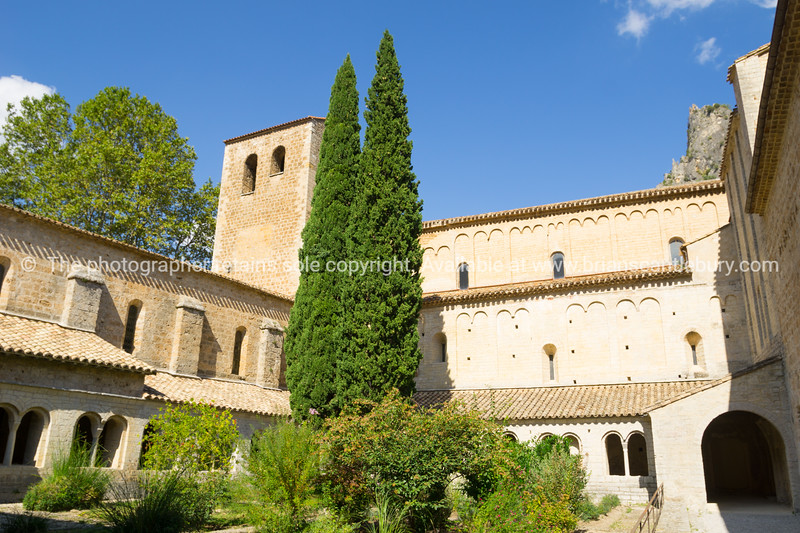 Abbey of Gellone in historic Southern French village  St Guilheme Le Desert