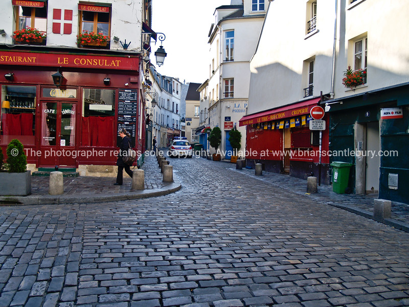 "Cobbled Streets of Montmatre, Paris, France. SEE ALSO:   <a href=""http://www.blurb.com/b/893039-paris-international-city"">http://www.blurb.com/b/893039-paris-international-city</a>"