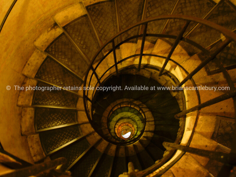"Arch de Triomphe, circular stairway, Paris, International City. SEE ALSO:   <a href=""http://www.blurb.com/b/893039-paris-international-city"">http://www.blurb.com/b/893039-paris-international-city</a>"