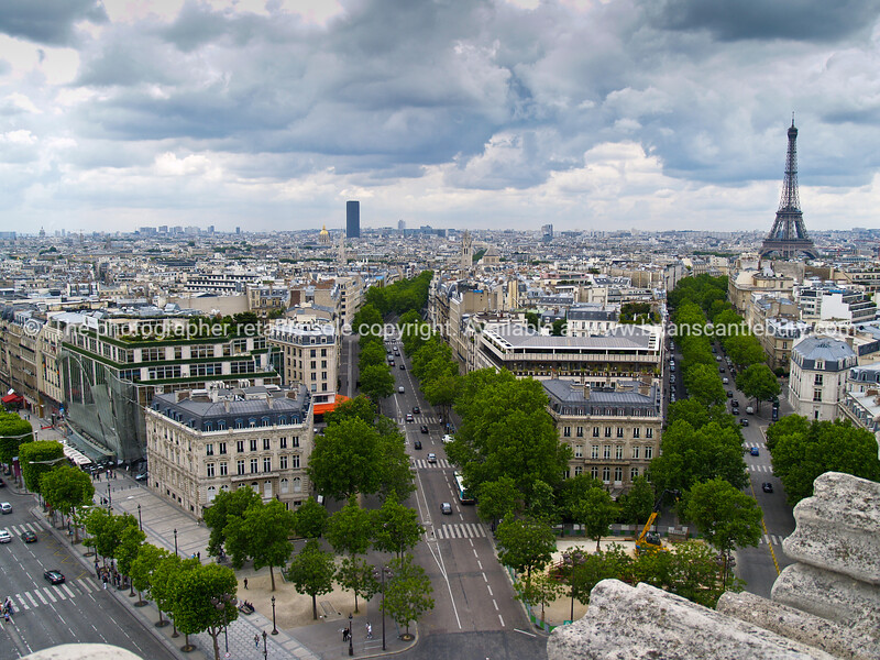 """Paris and Eiffel Tower from top of Arc de Triomphe, France. SEE ALSO:   <a href=""""http://www.blurb.com/b/893039-paris-international-city"""">http://www.blurb.com/b/893039-paris-international-city</a>"""