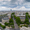 "Paris and Eiffel Tower from top of Arc de Triomphe, France. SEE ALSO:   <a href=""http://www.blurb.com/b/893039-paris-international-city"">http://www.blurb.com/b/893039-paris-international-city</a>"