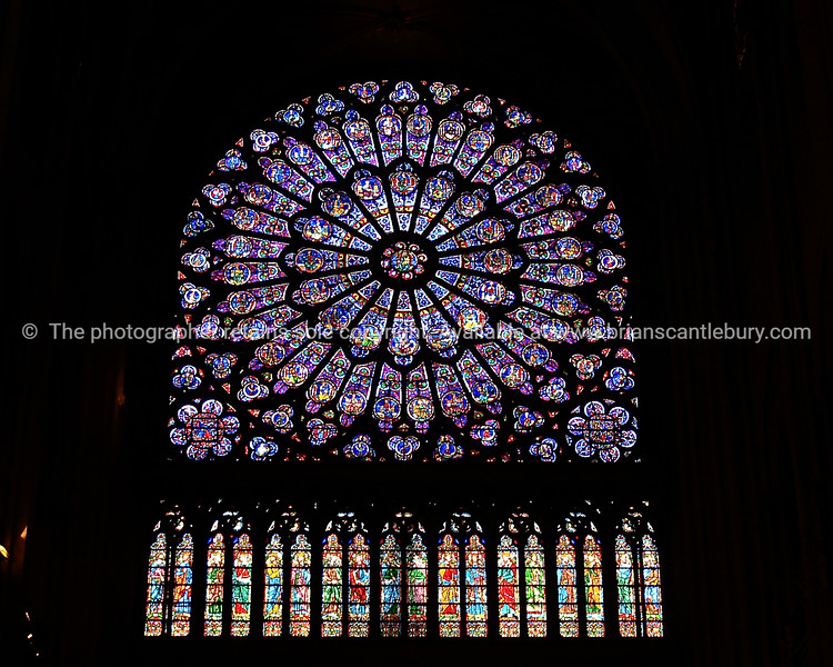 "Stained glass rose window, Notre dame Cathedral, Paris. SEE ALSO:   <a href=""http://www.blurb.com/b/893039-paris-international-city"">http://www.blurb.com/b/893039-paris-international-city</a>"