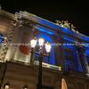 Night in the Place de la Comédie wonderful architecture of historic Opera House on  promenade under night lights and long exposure Place de la Comédie Montpellier France urban & architectural