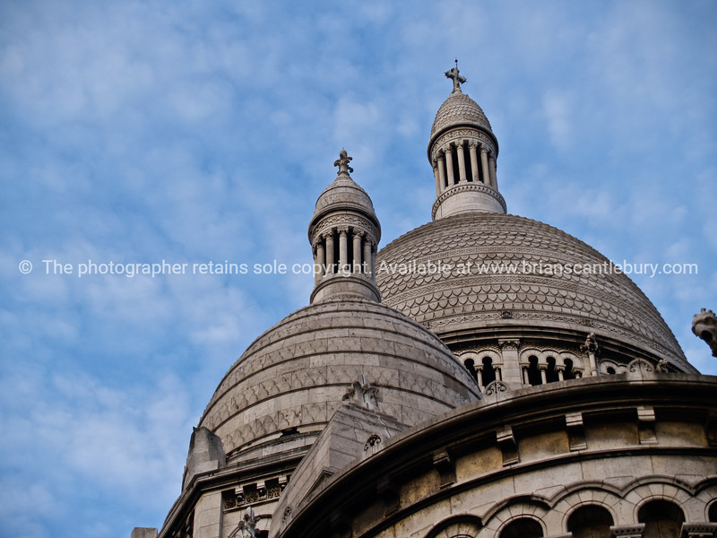 """Basilica Sacre Ceour, looking up at two of its domes, Paris, International City. SEE ALSO:   <a href=""""http://www.blurb.com/b/893039-paris-international-city"""">http://www.blurb.com/b/893039-paris-international-city</a>"""