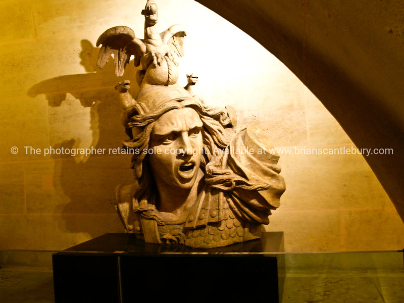 """Napoleon, bust in the museum in the Acr de Triomphe, Paris, France. SEE ALSO:   <a href=""""http://www.blurb.com/b/893039-paris-international-city"""">http://www.blurb.com/b/893039-paris-international-city</a>"""