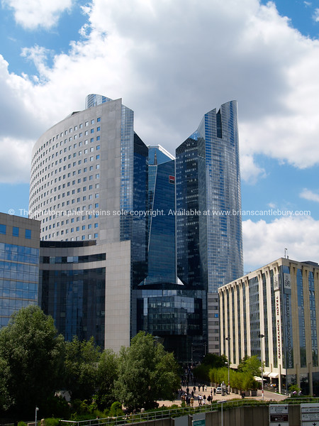 """Modern office towers in La Defense district, Paris, France. SEE ALSO:   <a href=""""http://www.blurb.com/b/893039-paris-international-city"""">http://www.blurb.com/b/893039-paris-international-city</a>"""