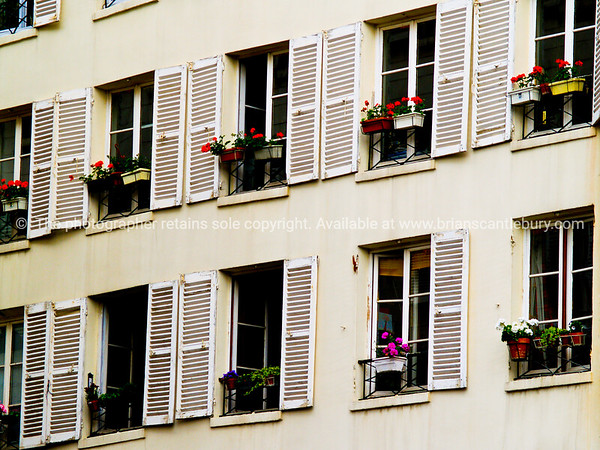 "Windows and window flower boxes, Paris, International City. SEE ALSO:   <a href=""http://www.blurb.com/b/893039-paris-international-city"">http://www.blurb.com/b/893039-paris-international-city</a>"