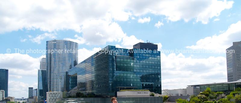 """Office buildings, La Defence, Paris, France. SEE ALSO:   <a href=""""http://www.blurb.com/b/893039-paris-international-city"""">http://www.blurb.com/b/893039-paris-international-city</a>"""