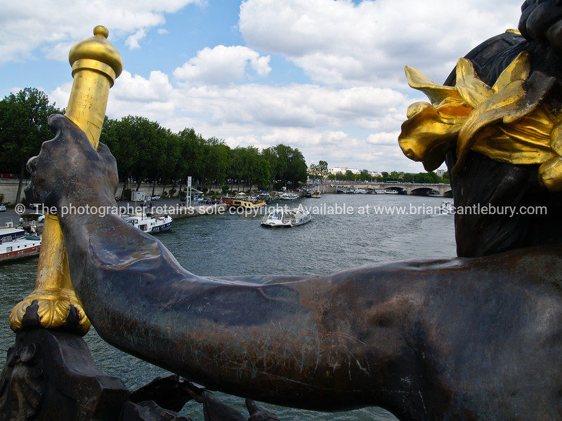 """The river Seine, Paris, France, viewed from Pont Alexandre 111. SEE ALSO:   <a href=""""http://www.blurb.com/b/893039-paris-international-city"""">http://www.blurb.com/b/893039-paris-international-city</a>"""