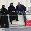 "Shoppers, resting after the spend, Muslims on La fayette rooftop. Paris, International City.<br /> Model released; no, for editorial & personal use. SEE ALSO:   <a href=""http://www.blurb.com/b/893039-paris-international-city"">http://www.blurb.com/b/893039-paris-international-city</a>"