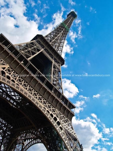 "Eiffel Tower, vertical,diagonal composition. Paris, France. SEE ALSO:   <a href=""http://www.blurb.com/b/893039-paris-international-city"">http://www.blurb.com/b/893039-paris-international-city</a>"