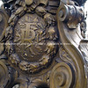"Sculpture, bronze, with letter ""FR"", close-up, Paris, France. SEE ALSO:   <a href=""http://www.blurb.com/b/893039-paris-international-city"">http://www.blurb.com/b/893039-paris-international-city</a>"